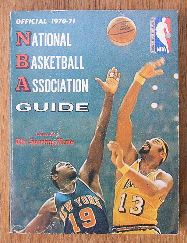 a9476dd86e93 1970-71 Sporting News NBA Basketball Guide.