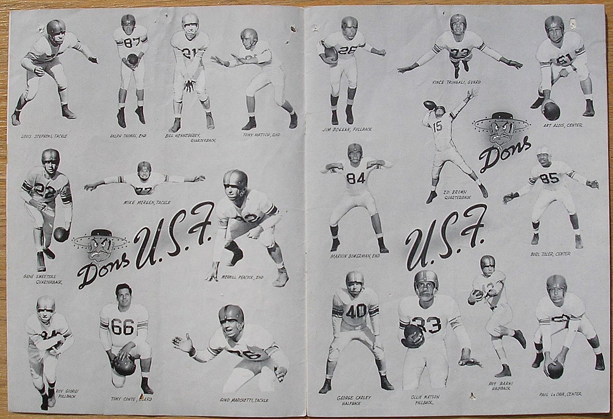 Vintage football programs Stanford and Cal