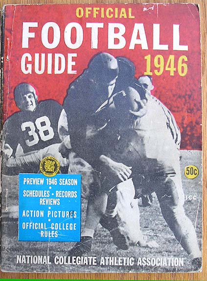 108c44be7 1946 Barnes Official NCAA Football Guide.