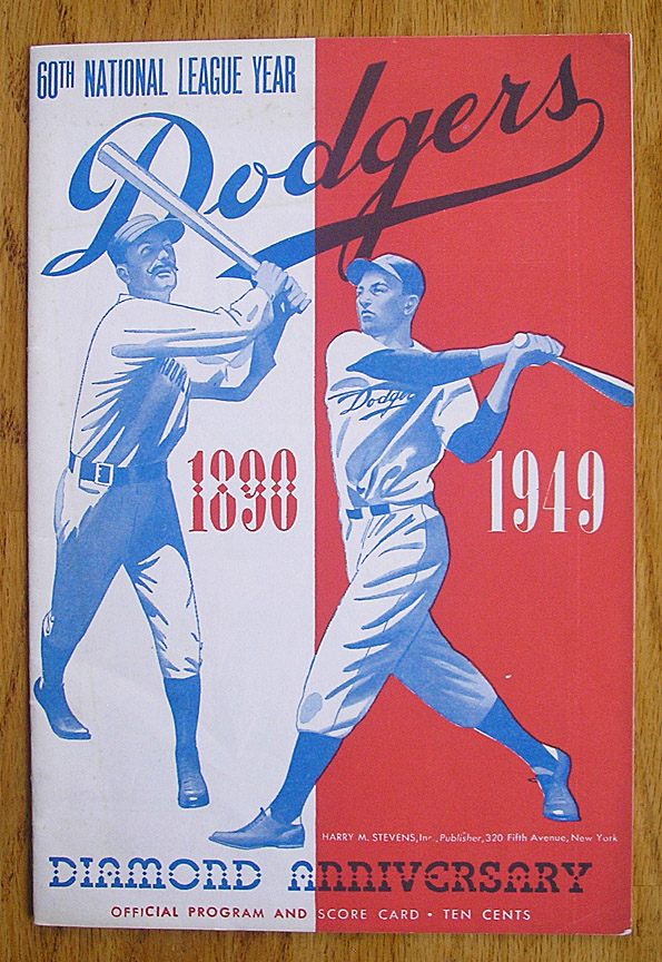 d01ced2fc 1949 Brooklyn Dodgers vs Cleveland Indians Mid Season Exhibition Game  Program, at Ebbets ...