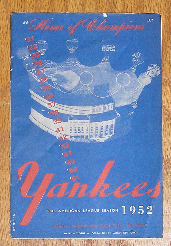 Vintage Baseball Programs, Magazines, Books and Yearbooks